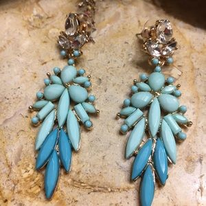 Crystal Rhinestone Long Earrings